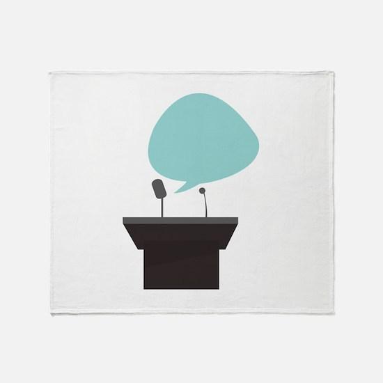 Speech_Base Throw Blanket