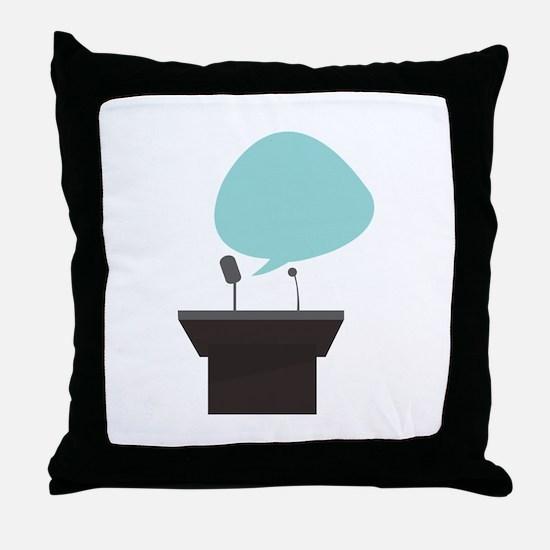 Speech_Base Throw Pillow