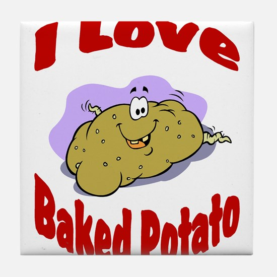 Baked potato Tile Coaster