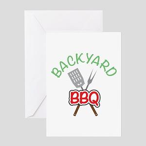 Backyard BBQ Greeting Cards