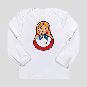 Matryoshka Russian Wooden Doll Long Sleeve T-Shirt