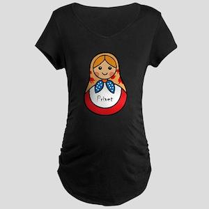 Matryoshka Russian Wooden Doll Maternity T-Shirt