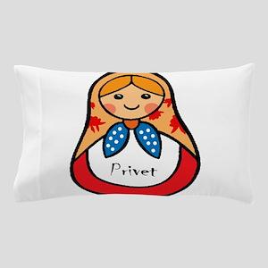 Matryoshka Russian Wooden Doll Pillow Case