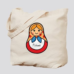 Matryoshka Russian Wooden Doll Tote Bag