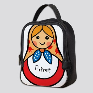 Matryoshka Russian Wooden Doll Neoprene Lunch Bag