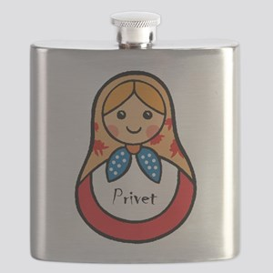 Matryoshka Russian Wooden Doll Flask
