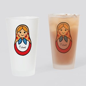 Matryoshka Russian Wooden Doll Drinking Glass