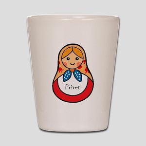 Matryoshka Russian Wooden Doll Shot Glass