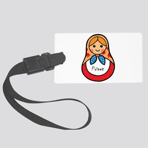 Matryoshka Russian Wooden Doll Large Luggage Tag