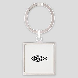ICHTHUS FISH Keychains
