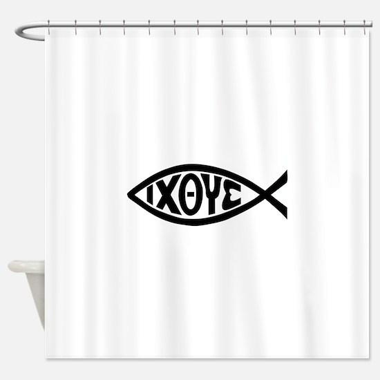 ICHTHUS FISH Shower Curtain