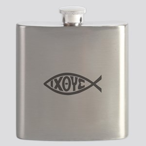 ICHTHUS FISH Flask