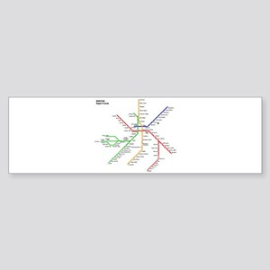 Boston Rapid Transit Map Subway Met Bumper Sticker