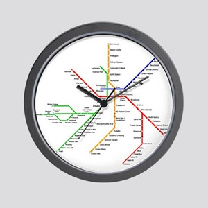 Boston Rapid Transit Map Subway Metro Wall Clock
