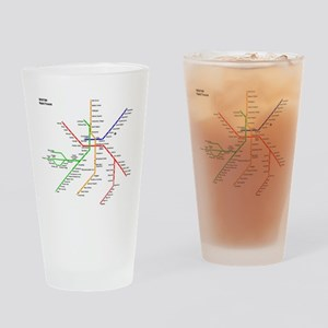 Boston Rapid Transit Map Subway Met Drinking Glass