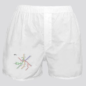 Boston Rapid Transit Map Subway Metro Boxer Shorts