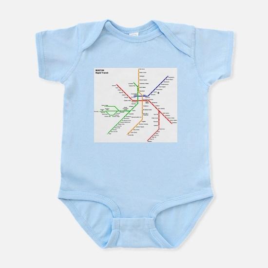 Boston Rapid Transit Map Subway Metro Body Suit