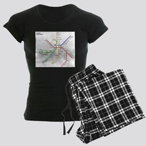 Boston Rapid Transit Map Sub Women's Dark Pajamas