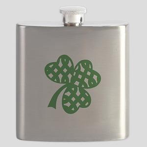 CELTIC CLOVER Flask
