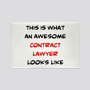 awesome contract lawyer Rectangle Magnet