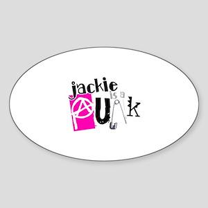 Jackie is a Punk Sticker