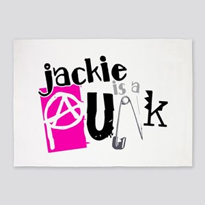 Jackie is a Punk 5'x7'Area Rug