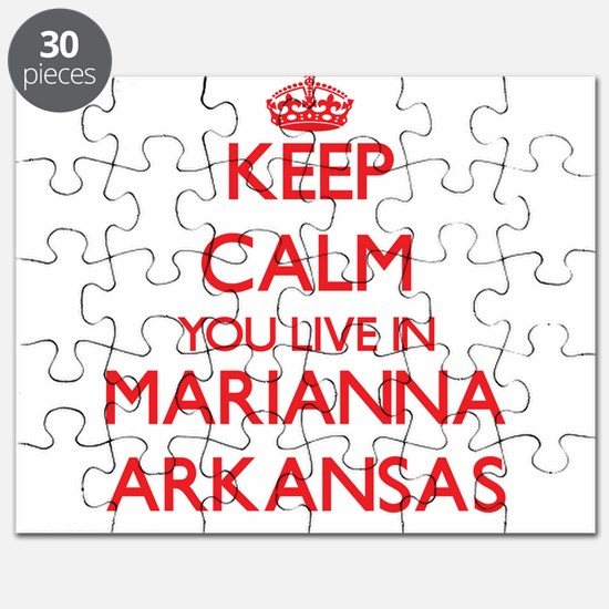 Keep calm you live in Marianna Arkansas Puzzle