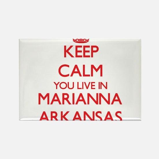Keep calm you live in Marianna Arkansas Magnets