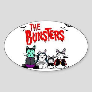 Bunsters Oval Sticker