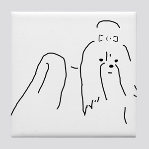 Shih Tzu Sketch Tile Coaster