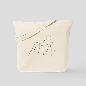 Shih Tzu Sketch Tote Bag