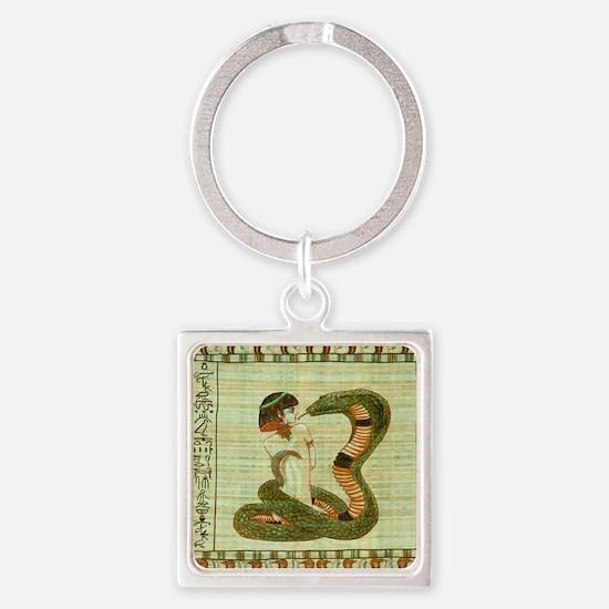 Cleopatra 10 Square Keychain