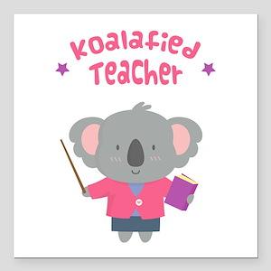 Cute Pun Koala Bear Koalafied Teacher Square Car M