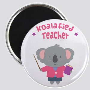 Cute Pun Koala Bear Koalafied Teacher Magnets
