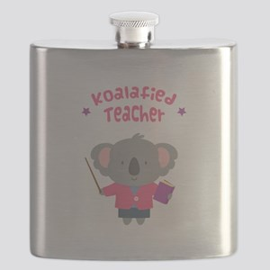 Cute Pun Koala Bear Koalafied Teacher Flask