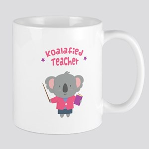 Cute Pun Koala Bear Koalafied Teacher Mugs