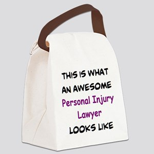 awesome personal injury lawyer Canvas Lunch Bag