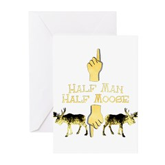 half man half moose Greeting Cards (Pk of 10)