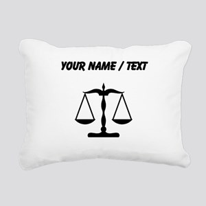 Custom Scale Of Justice Rectangular Canvas Pillow