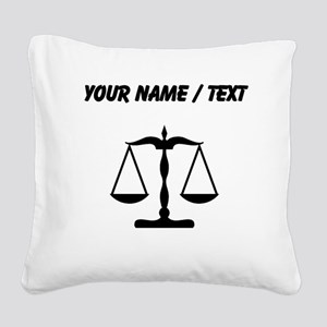 Custom Scale Of Justice Square Canvas Pillow
