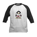 Martial Arts red belt penguin Kids Baseball Jersey