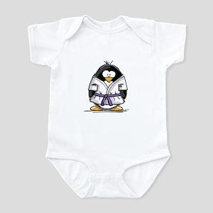 Martial Arts purple belt peng Infant Bodysuit