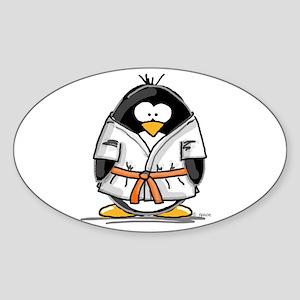 Martial Arts orange belt peng Oval Sticker