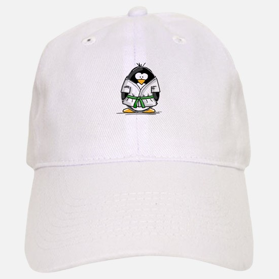 Martial Arts green belt pengu Baseball Baseball Cap