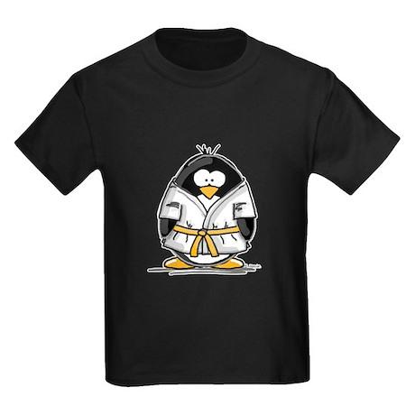 Martial Arts gold belt pengui Kids Dark T-Shirt