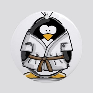 Martial Arts brown belt pengu Ornament (Round)