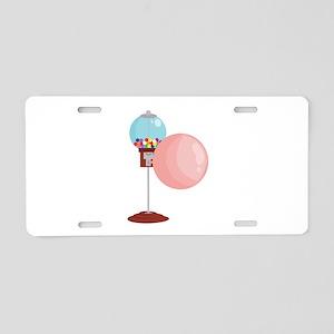 Bubblegum_Machine Aluminum License Plate
