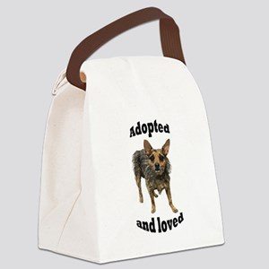 Adopted and Loved Canvas Lunch Bag