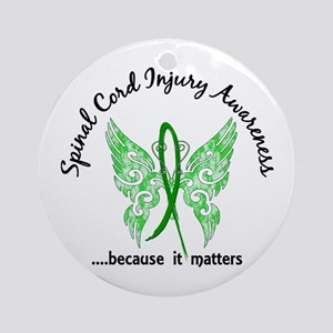 Spinal Cord Injury Butterfly 6.1 Ornament (Round)