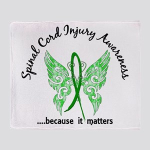 Spinal Cord Injury Butterfly 6.1 Throw Blanket